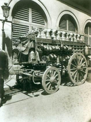 Coche de lechero, Eugene Atget, Paris 1910