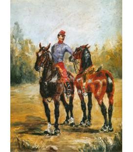 Dos caballos con ordenanza