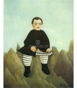 El niño sobre las rocas