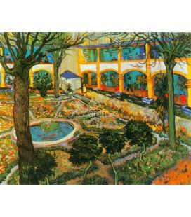 El patio del hospital de Arles