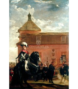 El principe Baltasar Carlos en el picadero