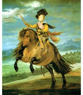 El principe Baltasar Carlos, a caballo
