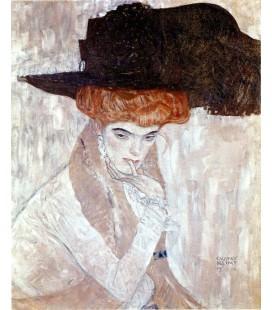 El sombrero de plumas negro