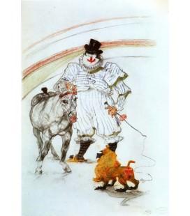 En el circo, caballo y mono domados
