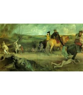 Escena de guerra medieval los sufrimientos de la ciudad de Nueva orleans