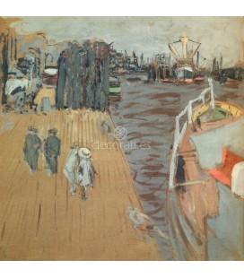 Le Cargo a quai, Hamburgo