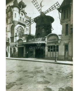 Le Moulin Rouge, Eugene Atget, Paris 1911
