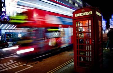 London bus and telephone