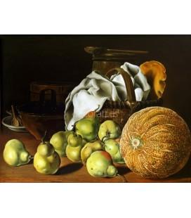 Melon, peras y cesto
