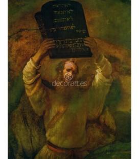 Moises rompiendo las tablas de la ley