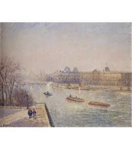 Morning Winter Sunshine, Frost, the Pont-Neu, the Seine, the Louvre