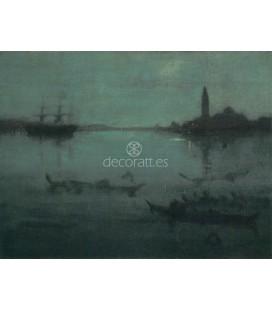 Nocturne en bleu et argent, la lagune, Venise