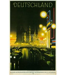Vista de la Kaiser Wilhelm Gadachtniskirche de Berlin, 1927