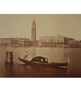 Vista del Palacio Ducal en góndola. Carlo Ponti. 1870