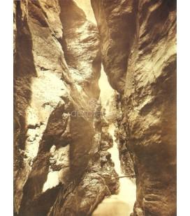Waterfall Gorge, William Henry Jackson, 1890