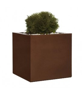 Macetero cubo madera