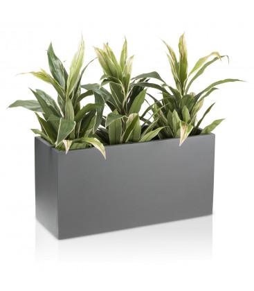 Macetero rectangular gris