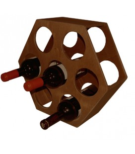 Botellero hexagonal