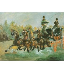 Alphonse Toulouse Lautrec en coche de caballos