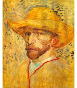 Autorretrato con sombrero de paja