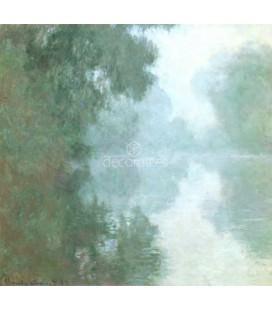 Bras de la Seine pres de Giverny, brouillard