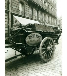 Carro de cerveceria, Eugene Atget, Paris 1910