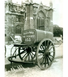 Carro del agua, Eugene Atget, Paris 1910